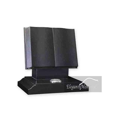 The Claremont Book Set Granite Headstone Black