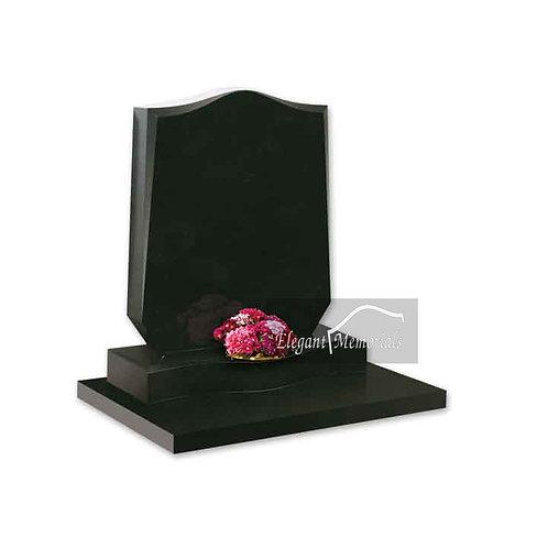 The Whitchurch Granite Headstone Black