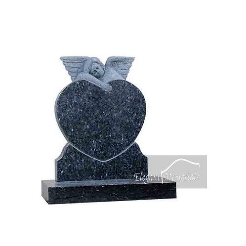 The Cherub Granite Headstone Blue Pearl