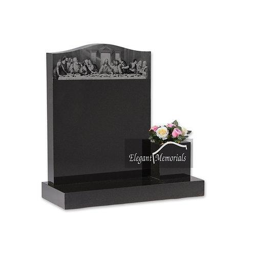 The Luton Granite Headstone Black