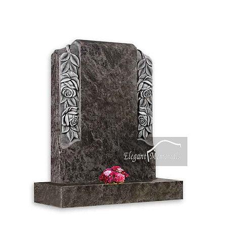 The Ellsworth Granite Headstone Bahama Blue