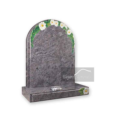 The Guildford Granite Headstone Bahama Blue