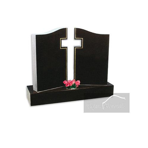 The Fareham Granite Headstone Black