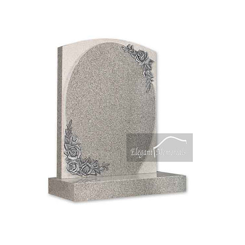 The Raleigh Granite Headstone Arctic Grey