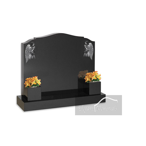 The Swindon Granite Headstone Black