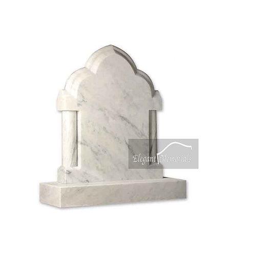 The Northam Granite Headstone Carrara Marble