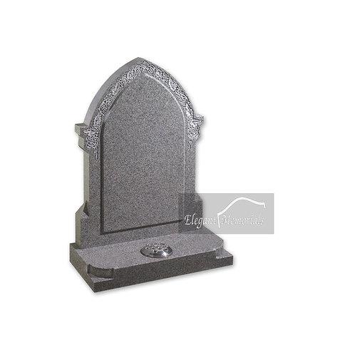 The Steeple Granite Headstone Sira Grey