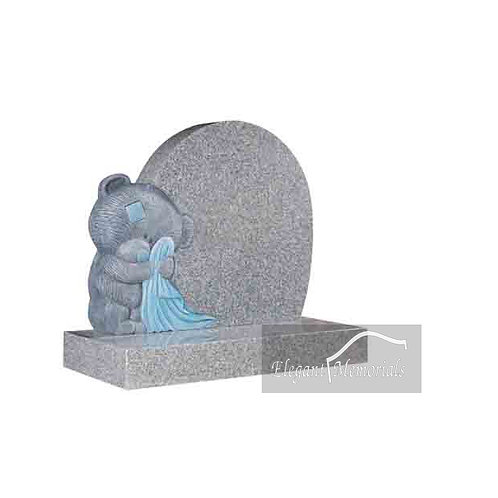 Henry Bear Granite Headstone South Arctic Grey