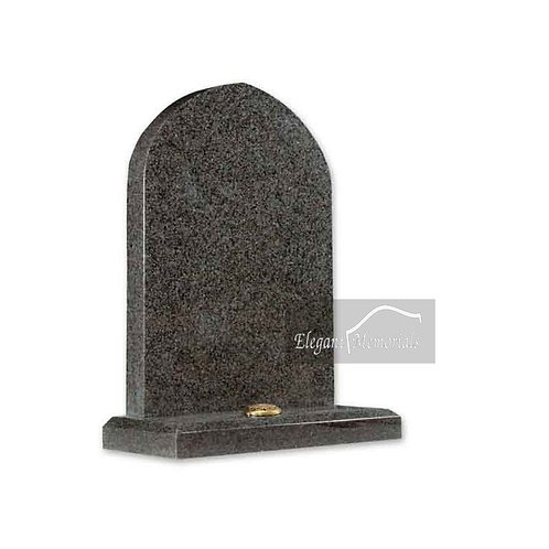The Kington Granite Headstone South African Dark Grey