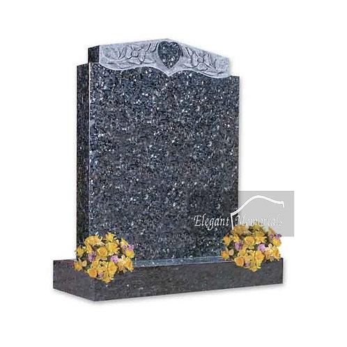 The Kettering Granite Headstone Blue Pearl