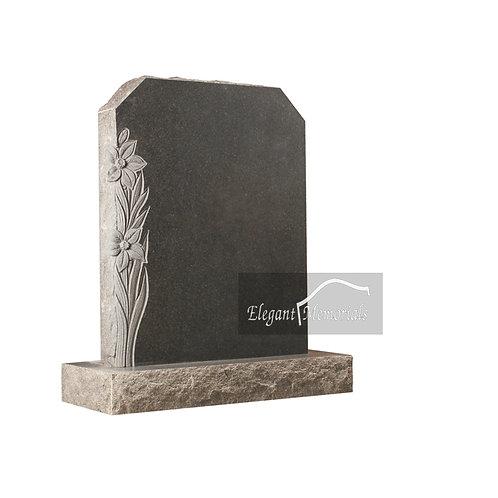 The Helston Granite Headstone Natural Finish