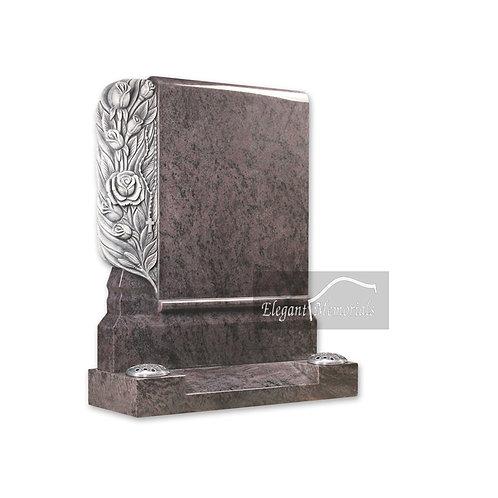 The Mitcham Granite Headstone Bahama Blue