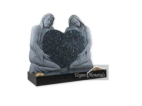 Our Lord and Lady Granite Headstone Blue Pearl