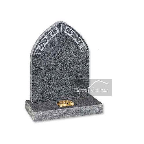 The Hyde Granite Headstone Deep Dark Grey