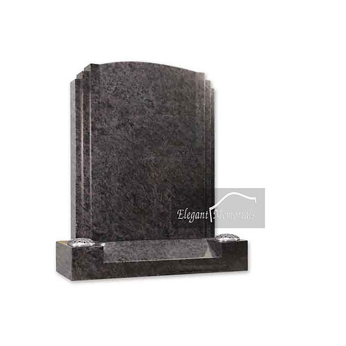 The Moxley Granite Headstone Bahama Blue