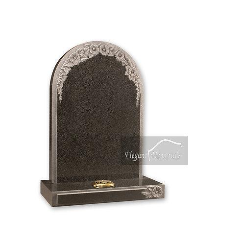The Helmsley Granite Headstone South African Dark Grey