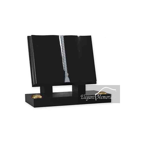 The Classic Book Set Granite Headstone Black