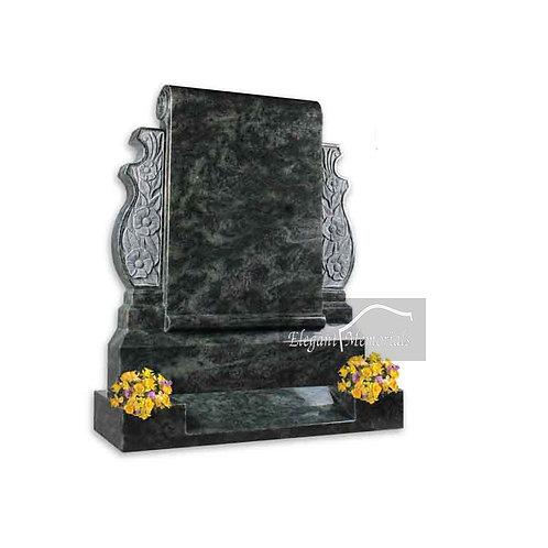 The Heaton Granite Headstone Tropical Green