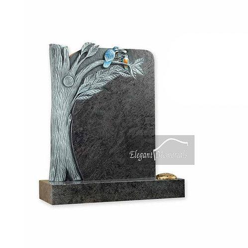 The Brentwood Granite Headstone Bahama Blue