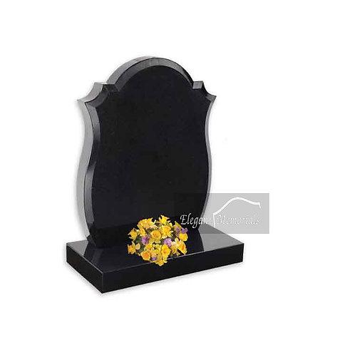 The Maltby Granite Headstone Black