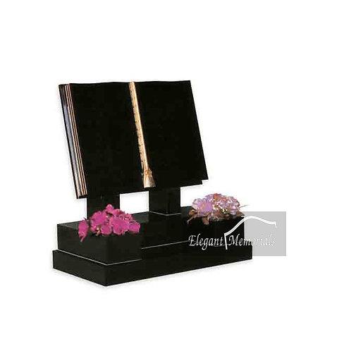 The Cambridge Book Set Granite Headstone Black