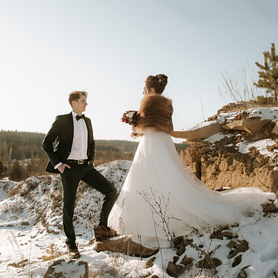 Любовь. Свадьба. Зима.