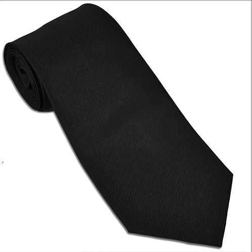 Woven Silk Black Tie