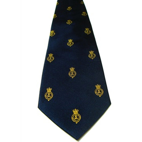Queen's Royal Hussars Cypher Silk Tie