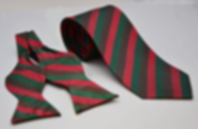 superior quality silk tie and bow tie recently produced for a very happy customer