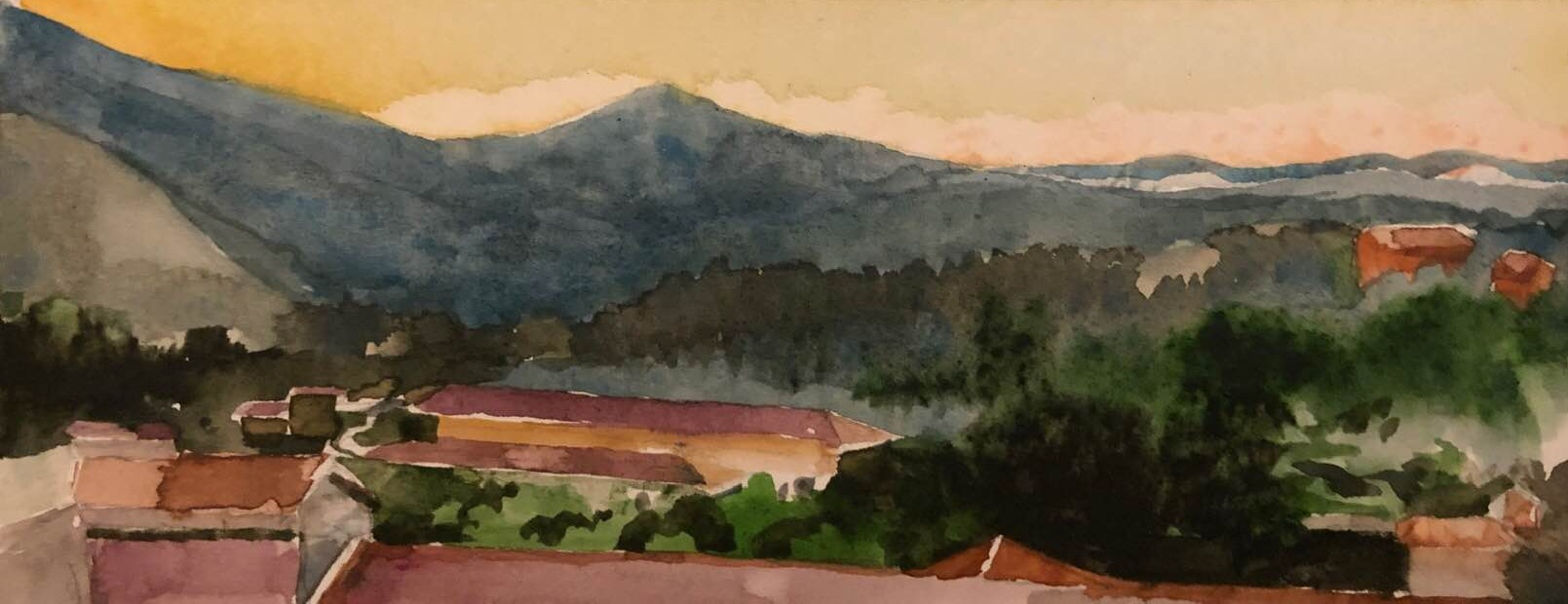 Mosso, Evening Light 4x10 watercolor_edi