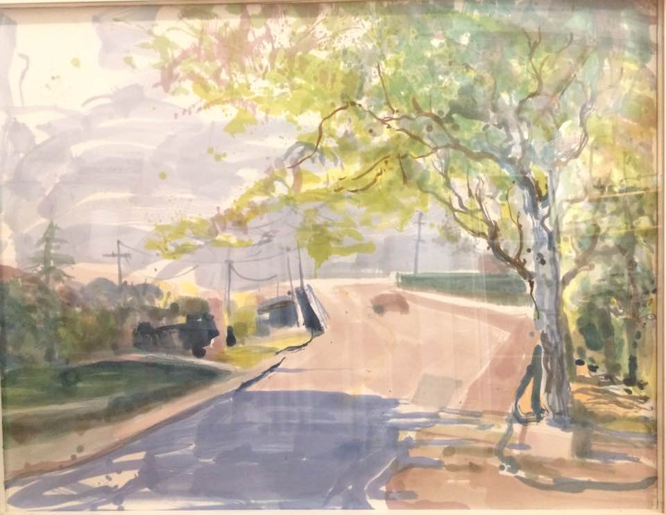 Crooked Mile 40 x 53 watercolor 2017
