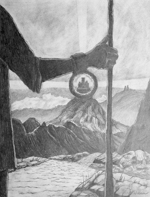 """A_Pilgrim_Searching_for_His_Homeland""_and_are_graphite.__"