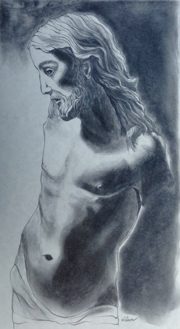 """Study for Jesus"" and is graphite"