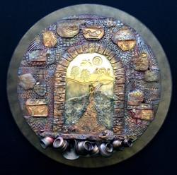 """Journey_of_Faith"",_painted_stoneware"
