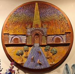 """And_of_His_Kingdom_There_Shall_Be_No_End""""._painted_stoneware"""