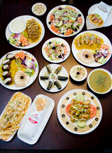 Array of dishes served at Mediterranean Grill.