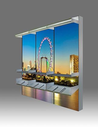 LED Light Box with Display Racks