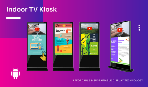 Indoor Digital TV Kiosk