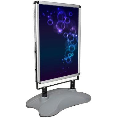 Grey Water Tank Outdoor Poster Stand