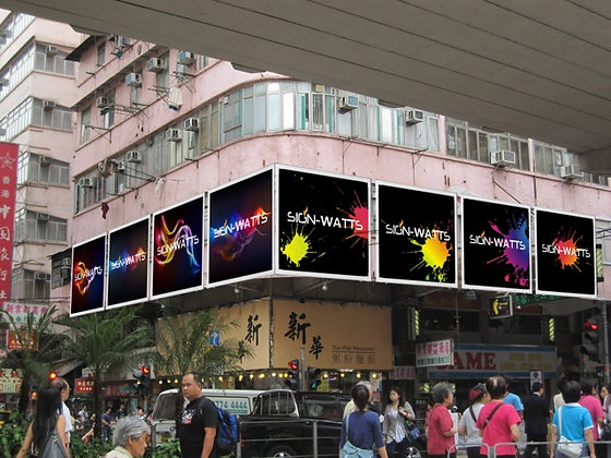 2-channel Flat Outdoor Banner