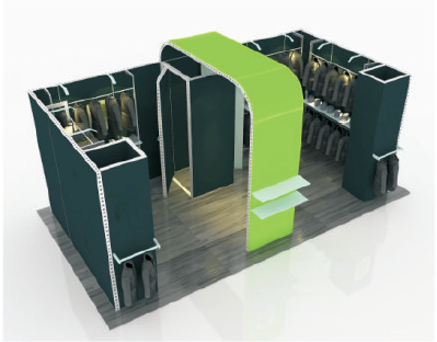 Exhibition Booth with Racks