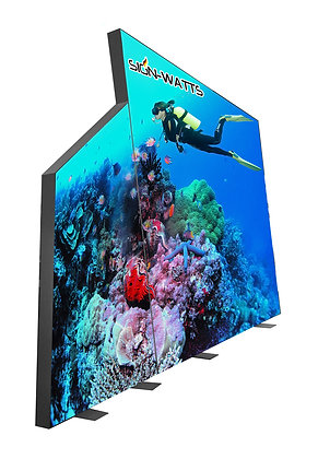 LED display light box with different shape