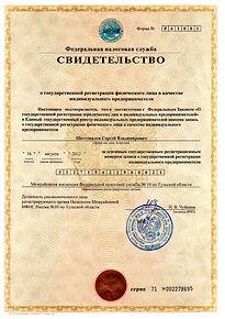 Шестопалов С.В. - Свидетельство о гос. р
