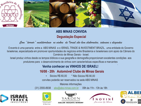 VENHA CONHECER OS VINHOS DE ISRAEL