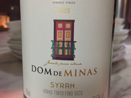 DOM DE MINAS SYRAH 2015 – CORDISLÂNDIA - MINAS GERAIS - BRASIL
