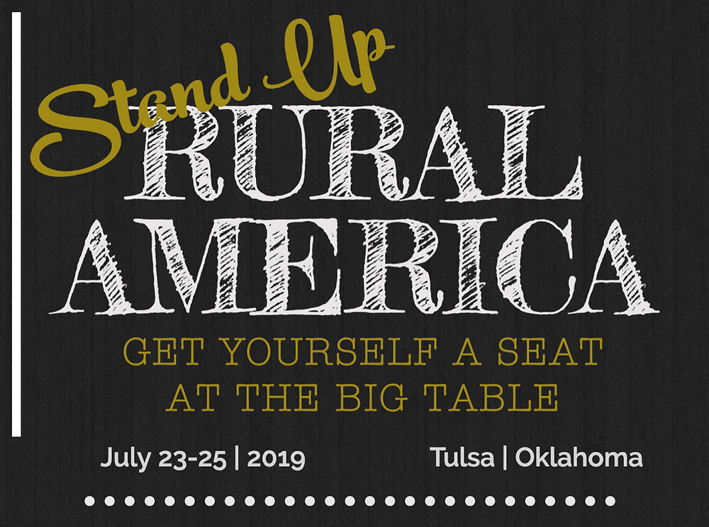 branding for Stand up Rural America event in Tulsa, OK in July 2019