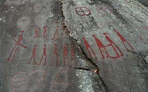 Sculptures rupestres anciennes