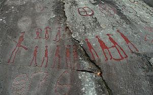 Oude rotstekeningen