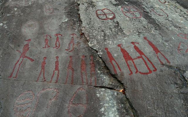 고대 암석 조각