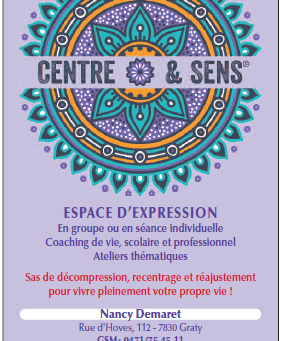 INSCRIPTION A L'ESPACE D'EXPRESSION CENTRE & SENS DU VENDREDI 5 AVRIL 2019 A 19H30